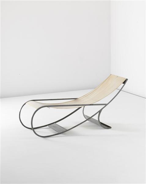 Interior Design Addict Francois Turpin Painted Metal And Canvas Chaise Longue C1933 Interior Design Addic Furniture Upholstery Furniture Design Furniture