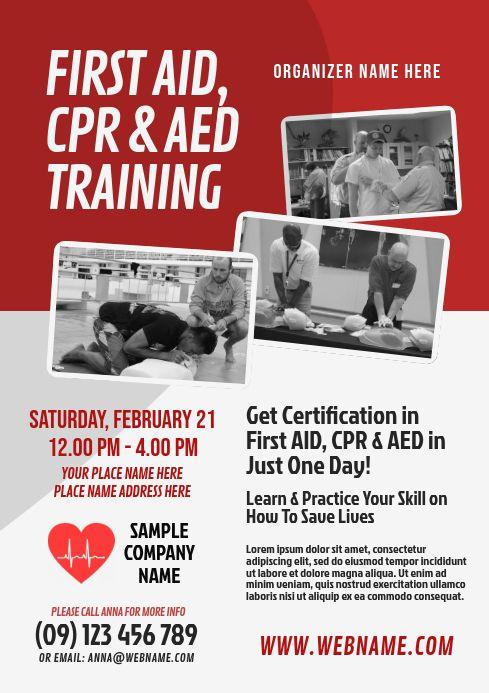 Cpr Training Flyer Cpr Training Flyer Social Media Graphics