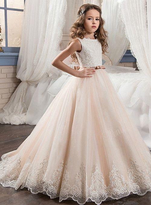 Kids Sequins Flower Girl Wedding Dress Bridesmaid Party Birthday Prom Tutu Dress