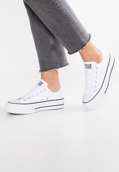 CHUCK TAYLOR ALL STAR LIFT - Baskets basses - white/garnet ...