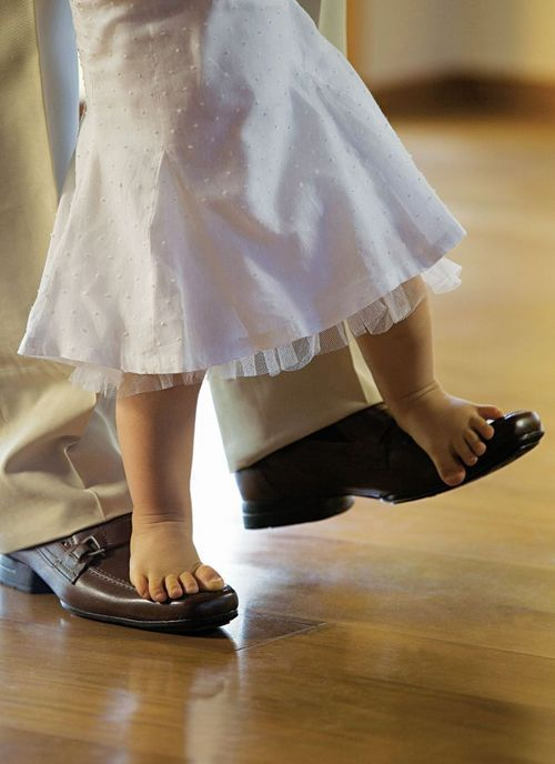 Dancing on daddy's shoes ♥