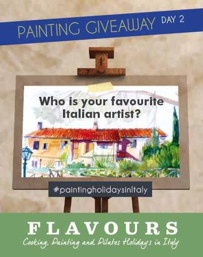 Day 2 of our #giveaway - to enter answer today's question using the hashtag #paintingholidaysinItaly. #competition
