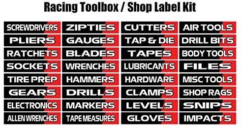 Toolbox Label Vinyl Decal Kit Racing Edition Toolbox Trailer Shop Label Kit Amazon Com Garage Tool Storage Garage Tools Tool Chest Organization