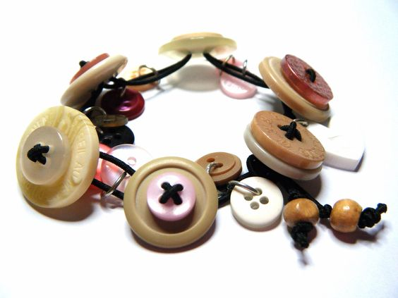 Stretch Button Charm Bracelet