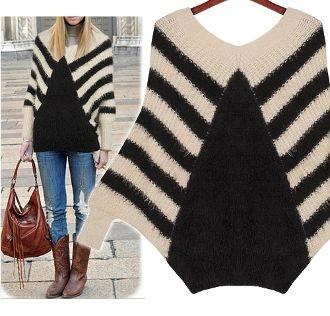 Easy Batwing Jumper Knitting Pattern : Womens Angora Knit Batwing Sweater knitting Pinterest Style, Sweat...