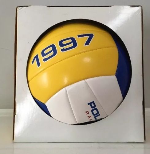 Ralph Lauren Polo Sport Volleyball Usa 1997 Boxed Yellow Blue White Gift Promo Promo Gifts Sport Volleyball Yellow Blue And White