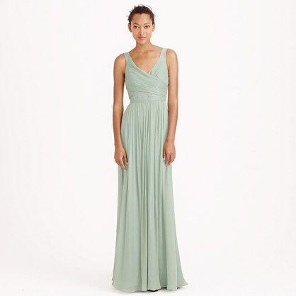 J.Crew - Heidi long dress in silk chiffon  Bridesmaid  Pinterest ...