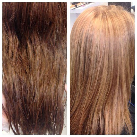 Brown too blonde