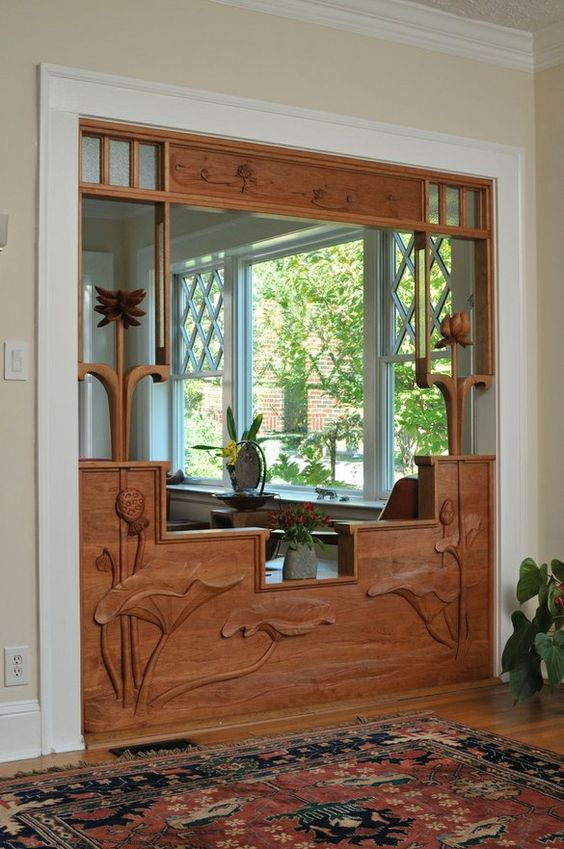 Screen Room Divider by Chrysalis Woodworks