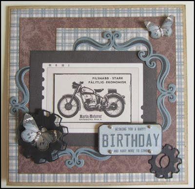 Scrapbook Funs blog: Fødselsdagskort til en biker.