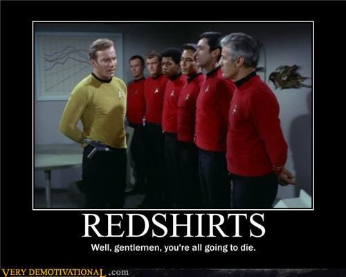 Image result for red shirt star trek