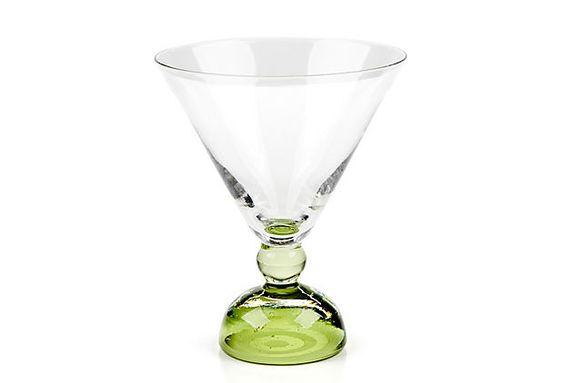 Set of 6 Biarritz Martini Glasses, Green on OneKingsLane.com