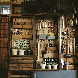 壁 天井 パンチングボード 工具 Diy セリア などのインテリア実例