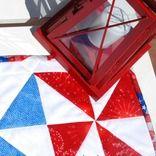 Patriotic Pinwheel Runner by Spun Sugar Quilt Designs
