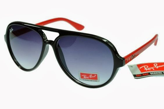 Ray Ban With Red  And Black Frame