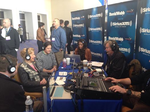 Phyllis Schlafly live on radio row with @Ute Martinez talking about the fight against the ERA, amnesty and more! — at Conservative Political Action Conference (CPAC).