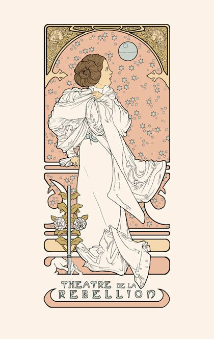 star wars art nouveau movie posters designs pinterest star wars art war and art. Black Bedroom Furniture Sets. Home Design Ideas
