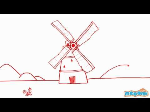 How to Draw a Windmill - Simple step by step guide learn #howtodraw a Windmill in a simple and interactive way. More such #drawing lessons at http://mocomi.com/fun/arts-crafts/drawing-for-kids/  Subscribe to our YouTube channel here http://www.youtube.com/user/mocomikids