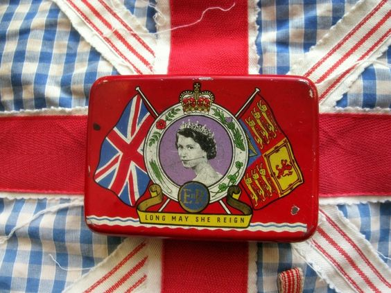 Vintage Tin Box Queen Elizabeth Coronation