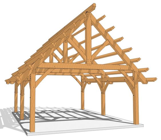 18x24 Timber Frame With Purlins Timber Frame Plans Timber Frame Timber Frame Barn