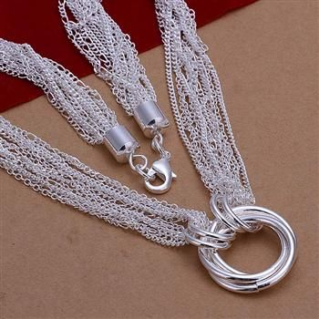 Promotion! free shipping wholesale 925 silver necklace, 925 silver fashion jewelry fashion necklace N264