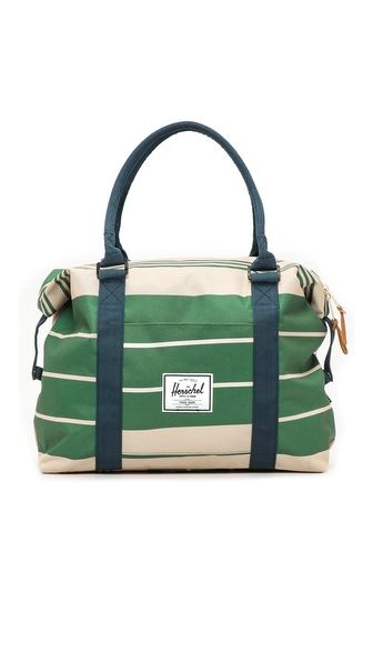 A nice bag for the Northwest Natty Gal - Strand Duffel Bag (Army Stripe And Navy) by Herschel Supply Co.   $62.96