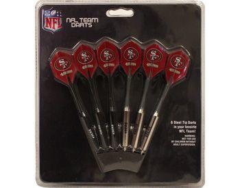 Set of 6 NFL San Francisco 49ers Steel Tip Darts & Flights with ...