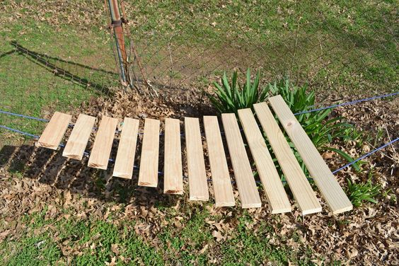 xylophone made from 2x4s