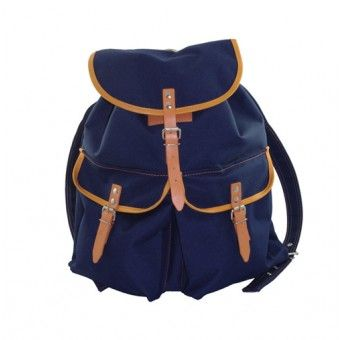 Canvas Back Pack - Navy