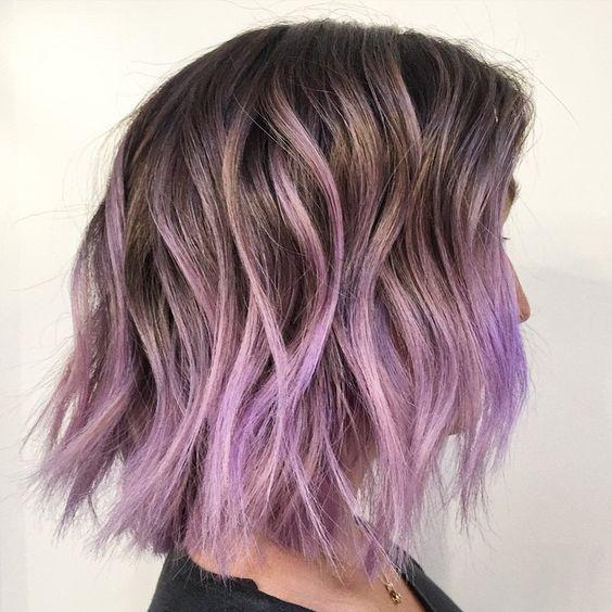 purple, Balayage, bob http//instagram.com/p/37e4baQXY2