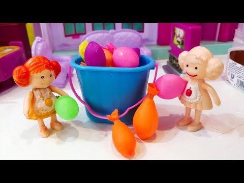 حرب القنابل المائية عائلة عمر جنة ورؤي قصص أطفال العاب باربي شفا Youtube Desserts Food Cake