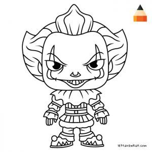 Pennywise Coloring Pages Ideas Scary But Fun Zeichnungen