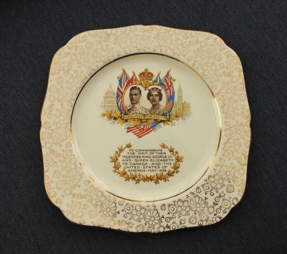 Assiette royale britannique Vintage 1939 roi par BichenVintage