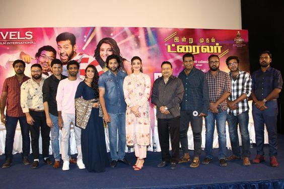 Jayam Ravi, Kajal Aggarwal At Comali Movie Press Meet