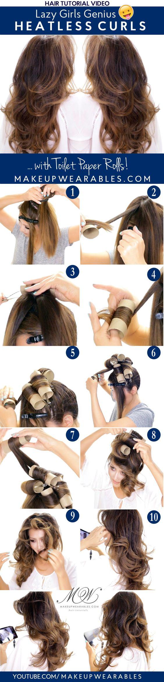 Lazy Girls Genius Heatless Curls Overnight Tutorial | #hairstyles