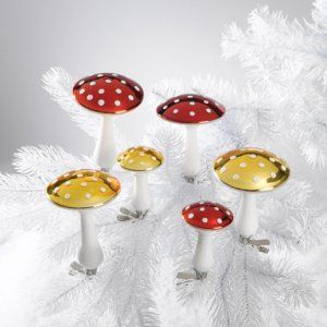Clip-On Mushroom Ornament made by Two's Company available at DIGS