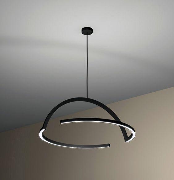 Minimal: Led Lamps, Lamp Design, 2D Pendant, For Lamps, Clean Lighting, Hanging Lamps