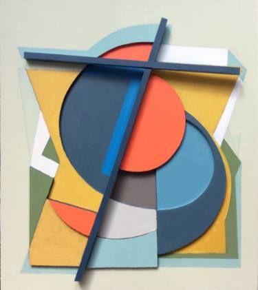 """Saatchi Art Artist Victor Popov; Collage, """"Raumkonstruktion mit kreuz"""" #art"""