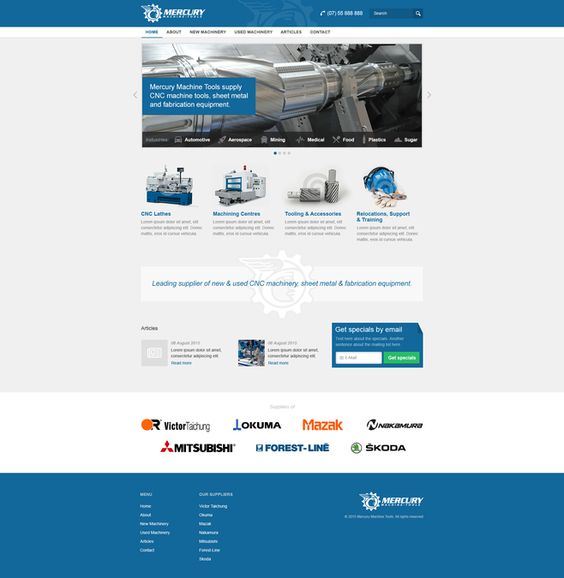 New website for Australian metalworking company by Max Webb