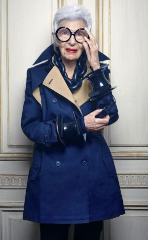 """Retirement is a fate worse than death"": Iris Apfel.:"
