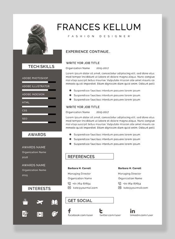 Resume Template Professional Resume Ms Word Resume Modern Etsy Resume Template Professional Resume Template Resume Skills