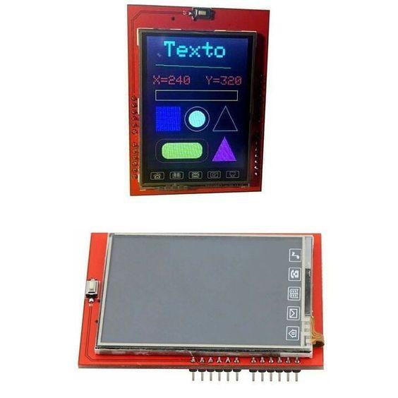 Módulo Display TFT 2.4 pol  R$8000 Tela Touch Entrada para cartão SD #casadoprojeto #arduino #raspberry #automacao #automacaoresidencial  #embarcados by casadoprojetoam