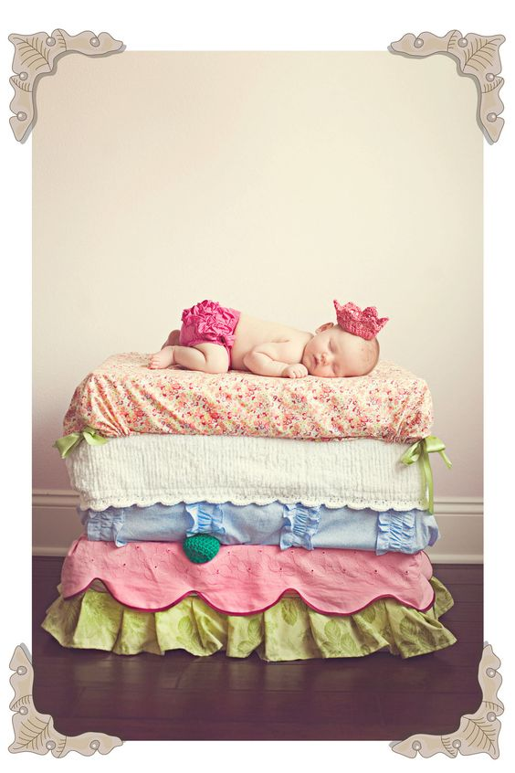 Princess and the Pea PHOTOGRAPHY PROP  by RoyalBabyYoungblood, $160.00- so cute!