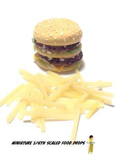 Check out this item in my Etsy shop https://www.etsy.com/listing/249927652/big-mac-french-fries-play-scale-food