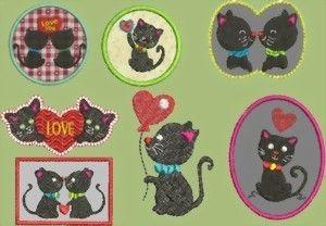 Katzen Love 8 Dateien für den 10x10 Rahmen von lollikids auf DaWanda.com
