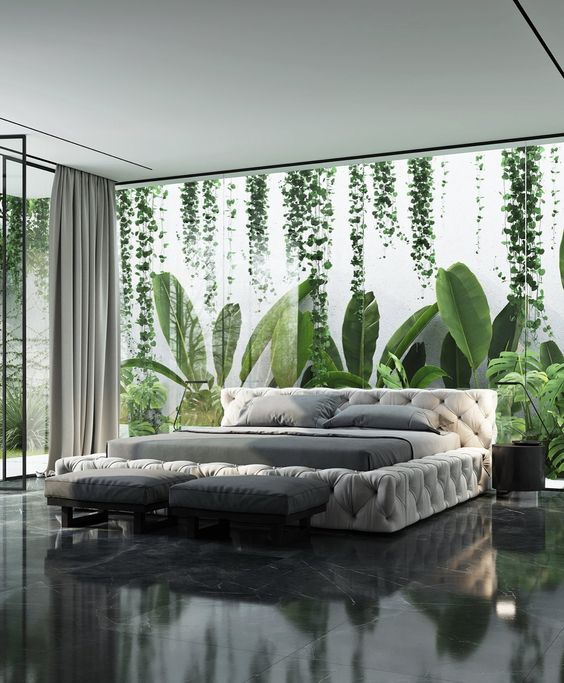 Homes Designed To Be In Harmony With Nature The Mood Palette In 2020 Beautiful Bedroom Designs Beautiful Bedrooms Modern Houses Interior
