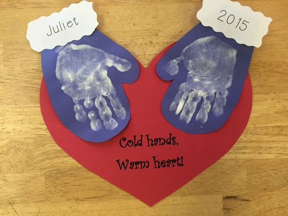 Cold Hands, Warm Hearts winter craft Terrific Preschool Years