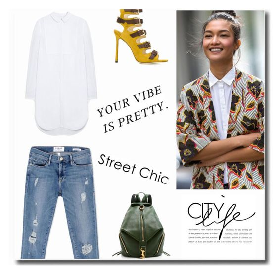"""""""Your vibe is pretty!"""" by cinnamonrose30 ❤ liked on Polyvore featuring Jimmy Choo, Mulberry, Frame and Rebecca Minkoff"""