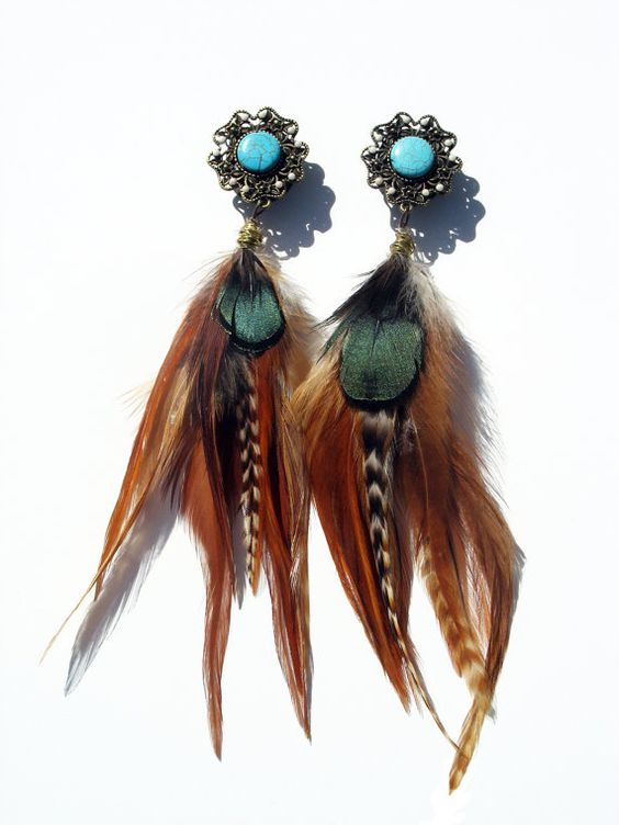 Native American: Feather Earrings, Feather Plugs, Feather Gauges, Feathery Earrings, American Feather, Native American Earrings, Earrings Gauges, Gauges Finally