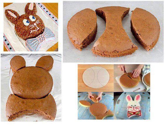 Fun Food Kids Easter Cute bunny cake Ostern Kuchen Hase Kaninchen animals tiere Häschen rabbit: